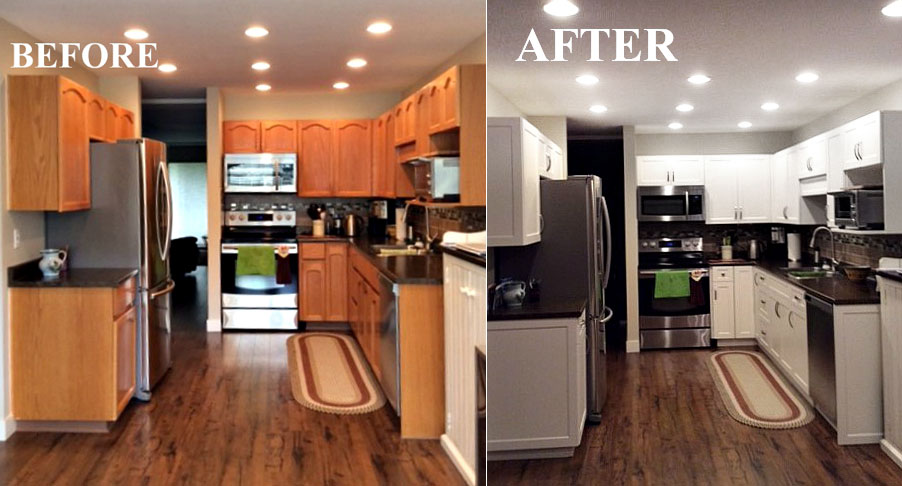 Remarkable Before After Kitchen Cabinet Refacing Gallery Download Free Architecture Designs Scobabritishbridgeorg